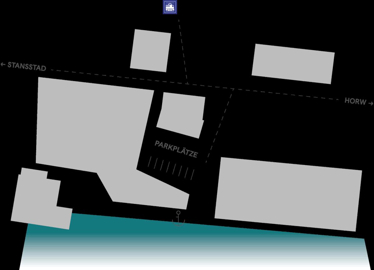 Karte mit Standort von deinboot.ch am Vierwaldstättersee.